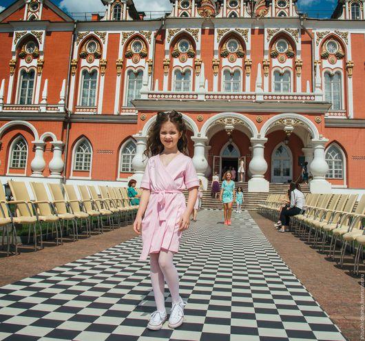Одежда для девочек, ручной работы. Ярмарка Мастеров - ручная работа. Купить Розовый халатик. Handmade. Розовый, одежда для девочек