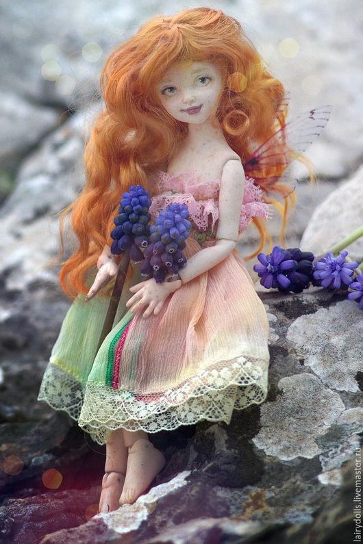 Коллекционные куклы ручной работы. Ярмарка Мастеров - ручная работа. Купить Фарфоровая шарнирная фея. Handmade. Рыжий, bjd, шерсть