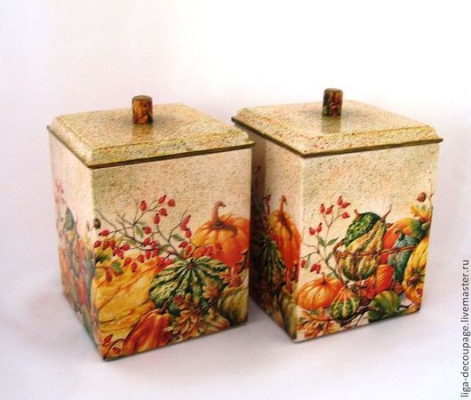 """Кухня ручной работы. Ярмарка Мастеров - ручная работа. Купить Короб для кухни """"Тыковки"""". Handmade. Короб для кухни, рыжий"""