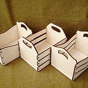 Материалы для творчества ручной работы. Ярмарка Мастеров - ручная работа Ящик для игрушек. Handmade.