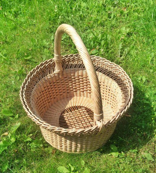 Корзины, коробы ручной работы. Ярмарка Мастеров - ручная работа. Купить Плетёная корзина круглая. Handmade. Корзина, для мелочей, подарок