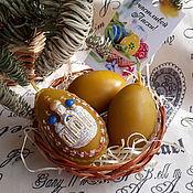 Подарки к праздникам handmade. Livemaster - original item Easter set of candles. Handmade.