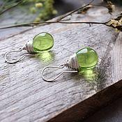 handmade. Livemaster - original item Silver earrings with spring drops. Handmade.