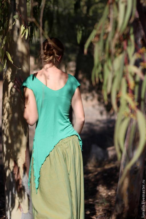 """Топ """"Лесная фея"""" трикотажный зеленый, Топы, Бээр-Шева, Фото №1"""