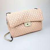 Сумки и аксессуары handmade. Livemaster - original item Quilted leather Chanel bag, Powder pink shoulder Bag. Handmade.