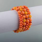 Украшения ручной работы. Ярмарка Мастеров - ручная работа Браслет `` Оранжевое небо,  оранжевое море... ``. Handmade.