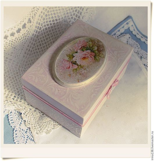 """Шкатулки ручной работы. Ярмарка Мастеров - ручная работа. Купить шкатулка """"розовая нежность"""". Handmade. Розовый, шкатулка для украшений, шкатулки"""