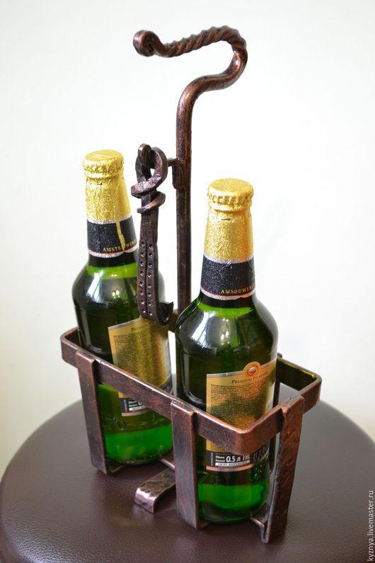 """Подарки для мужчин, ручной работы. Ярмарка Мастеров - ручная работа. Купить """"Пошел в баню..."""" подставка кованая для бутылок с открывалкой. Handmade."""