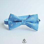 Аксессуары handmade. Livemaster - original item Blue tie Anchors / party and wedding in a marine style. Handmade.