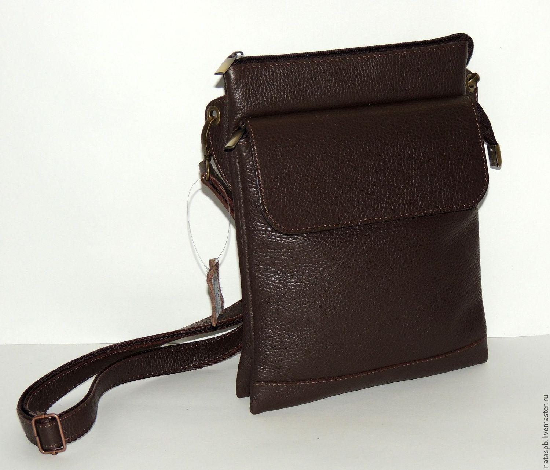 коричневая сумка в клетку : Quot