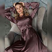 Платья ручной работы. Ярмарка Мастеров - ручная работа Платье ягодно-серого оттенка. Handmade.