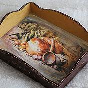 """Для дома и интерьера ручной работы. Ярмарка Мастеров - ручная работа Поднос маленький """"Хлеб да соль"""". Handmade."""