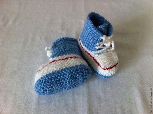 Для новорожденных, ручной работы. Ярмарка Мастеров - ручная работа. Купить Пинетки - ботиночки. Handmade. Розовый, пинетки для новорожденных