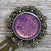 handmade. Livemaster - original item Bookmark for books (purple). Handmade.