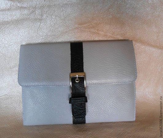 Сумки для ноутбуков ручной работы. Ярмарка Мастеров - ручная работа. Купить Чехол кожаный  для  iPad  мини. Handmade. Серый