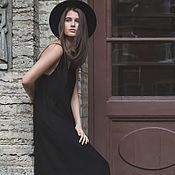 Одежда ручной работы. Ярмарка Мастеров - ручная работа Теплая версия любимого черного платья. Handmade.
