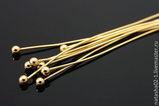 Для украшений ручной работы. Ярмарка Мастеров - ручная работа. Купить 10 штук - 50 мм пины Gold Plated Южная Корея. Handmade.