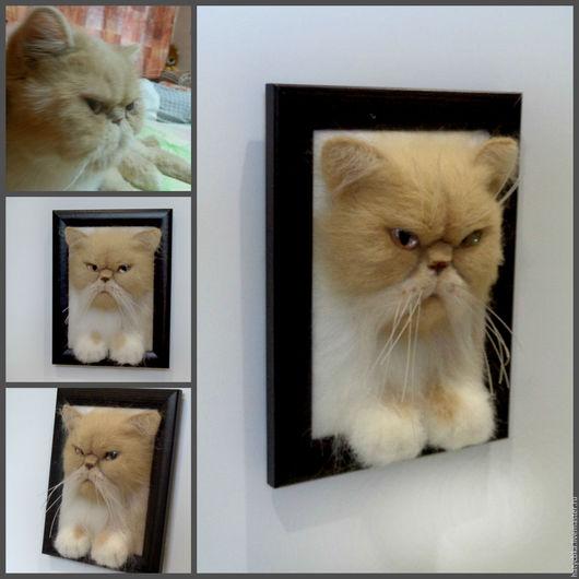 Игрушки животные, ручной работы. Ярмарка Мастеров - ручная работа. Купить персидская кошка. Handmade. Персидская кошка, домашний любимец