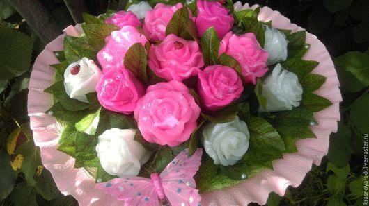 Букеты ручной работы. Ярмарка Мастеров - ручная работа. Купить Букет роз из мыла. Handmade. Комбинированный, букет, роза
