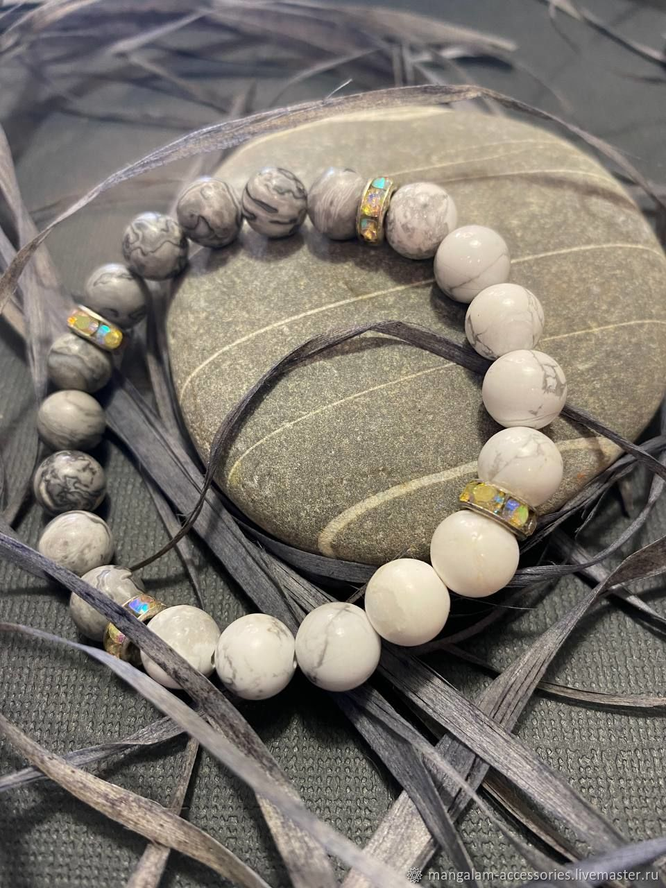 Браслет из натуральных камней | Кахалонг и Агат, Браслет из бусин, Великий Новгород,  Фото №1
