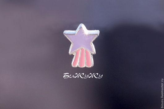 """Для украшений ручной работы. Ярмарка Мастеров - ручная работа. Купить Бусина в стиле Пандора """"Звезда"""". Handmade. Разноцветный"""