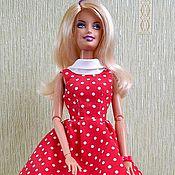 """Куклы и игрушки ручной работы. Ярмарка Мастеров - ручная работа Платье """"Горошки"""" для кукол типа Барби, Лив. Handmade."""