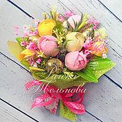 """Цветы и флористика ручной работы. Ярмарка Мастеров - ручная работа Букет из конфет  """"Танец цветов"""". Handmade."""