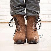 """Обувь ручной работы. Ярмарка Мастеров - ручная работа Валенки мужские """"Архарон"""" коричневый  валенки шерсть. Handmade."""