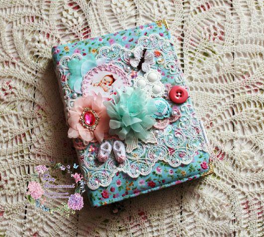 Для новорожденных, ручной работы. Ярмарка Мастеров - ручная работа. Купить Дневник развития малыша универсальный. Handmade. Комбинированный, брадс