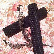 Фен-шуй и эзотерика ручной работы. Ярмарка Мастеров - ручная работа Черная свеча из вощины. Handmade.