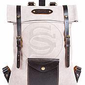 Рюкзаки ручной работы. Ярмарка Мастеров - ручная работа Рюкзак из кожи Vogue песочный. Handmade.