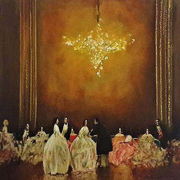 Картины и панно ручной работы. Ярмарка Мастеров - ручная работа Картина:Бальная сцена.. Handmade.