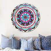 Картины и панно handmade. Livemaster - original item Acrylic painting-large mandala on the wall