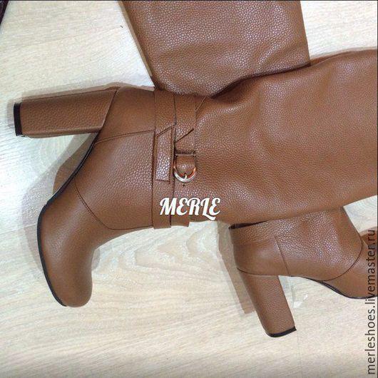 Обувь ручной работы. Ярмарка Мастеров - ручная работа. Купить Сапоги Fabi 10 см каблук. Handmade. Коричневый