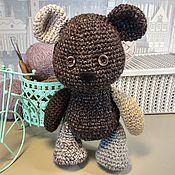 Мягкие игрушки ручной работы. Ярмарка Мастеров - ручная работа Медвежонок вязанный, разношерстный. Handmade.