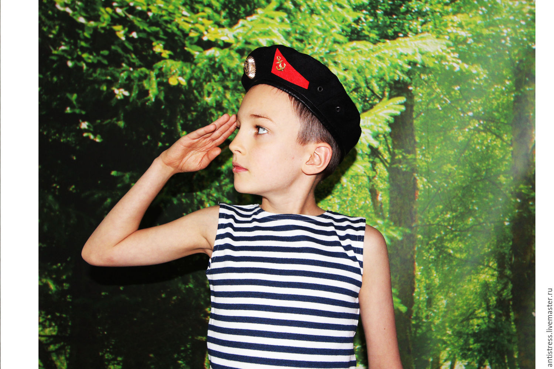 Берет и тельняшка морского пехотинца, Одежда унисекс, Щелково, Фото №1