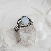 Украшения handmade. Livemaster - original item Silver ring with moonstone