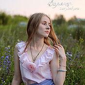 Одежда ручной работы. Ярмарка Мастеров - ручная работа Блузка Мальва бохо-блузка. Handmade.