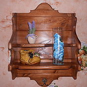 Для дома и интерьера ручной работы. Ярмарка Мастеров - ручная работа Полка кухонная деревянная. Handmade.