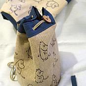 Сумки и аксессуары ручной работы. Ярмарка Мастеров - ручная работа детский рюкзачок с муми-троллями. Handmade.