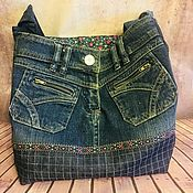 Сумки и аксессуары handmade. Livemaster - original item Bag shopper denim. Handmade.