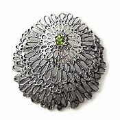 Украшения ручной работы. Ярмарка Мастеров - ручная работа Ковёр Мха - брошь из серебра с хризолитом. Handmade.