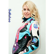 Одежда handmade. Livemaster - original item Women`s color jacket made of genuine leather, light leather jacket.. Handmade.