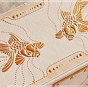"""Для дома и интерьера ручной работы. Ярмарка Мастеров - ручная работа Шкатулка для бижутерии """"Золотые рыбки"""". Handmade."""