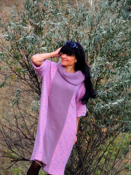 Платья ручной работы. Ярмарка Мастеров - ручная работа. Купить Осеннее платье прямого кроя (№77). Handmade. Платье вязаное