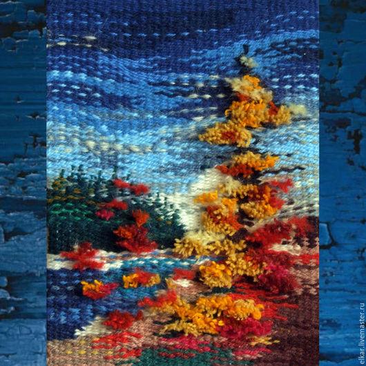 """Пейзаж ручной работы. Ярмарка Мастеров - ручная работа. Купить картина из шерсти """"Осень"""". Handmade. Гобелен ручной работы"""
