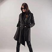Одежда ручной работы. Ярмарка Мастеров - ручная работа Длинное пальто с капюшоном / Пальто из шерсти/  F1738. Handmade.