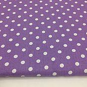 Материалы для творчества ручной работы. Ярмарка Мастеров - ручная работа 100% хлопок, Польша, горошки на фиолетовом фоне 7 мм. Handmade.