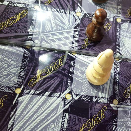 Настольные игры ручной работы. Ярмарка Мастеров - ручная работа. Купить Шахматы с Вашей монограммой. Handmade. Комбинированный, эксклюзив