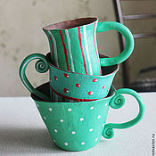 """Посуда ручной работы. Ярмарка Мастеров - ручная работа серия """"Бирюзовые грезы"""". Handmade."""